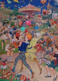 Luigi Cavalieri, tavola fuori testo per Collodi (Carlo Lorenzini), Pinocchio, Firenze, Salani, 1924. Acquerello, china su carta, 28,520,3 cm.