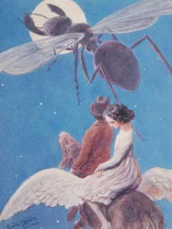 Carlo Chiostri, tavola fuori testo per Tommaso Catani, La formica nera, « Collezione Salani per i Ragazzi », Firenze, Salani, 1925. Acquerello su carta, 22,817,8 cm.