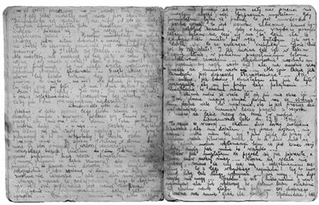 Due pagine del diario di Rywka Lipszyc