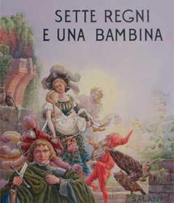 Gustavo Rosso (Gustavino), copertina per Milly Dandolo, Sette regni e una bambina, « I primi amici del bambino », Firenze, Salani, 1930. Tempera su carta, 37,728,5 cm.