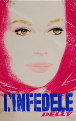 """Ugo Signorini, copertina per Delly, L'infedele, """"I Romanzi della Rosa"""", Firenze, Salani, 1976. Pastello su cartoncino, 29,6 x 19,5 cm"""