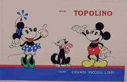 Fiorenzo Faorzi, copertina per Topolino, « Grandi Piccoli Libri », Firenze, Salani, 1941. Tempera su carta, 2333 cm.
