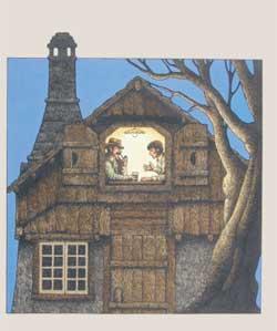 Roberto Innocenti, copertina per Klara Jarunkowa, Storia di Miro, «I Grandi Libri », Firenze, Salani, 1976. Acquerello, china, tempera su cartoncino, 2721,1 cm.