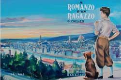 Loredano Ugolini, copertina per Gino Chelazzi, Il romanzo di un ragazzo , « Biblioteca dei Miei Ragazzi », Firenze, Salani, 1954. Tempera su cartone, 31 42,3 cm.