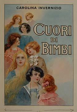 Ezio Anichini, copertina per Carolina Invernizio, Cuori di Bimbi, Firenze, Salani, 1914. Acquerello, tempera su cartoncino, 26,9 x 18,3 cm