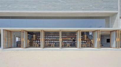 Una biblioteca sulla spiaggia. Unica nel suo genere