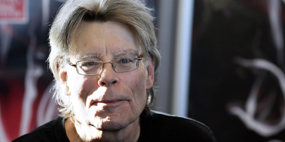 """American author Stephen King poses for photographers on November 13, 2013 in Paris, before a book signing event dedicated to the release of his new book """"Doctor Sleep"""", the sequel to his 1977 novel """"The Shining"""". The best-selling author has written over 50 novels and sold 350 million copies worldwide.   AFP PHOTO / KENZO TRIBOUILLARD        (Photo credit should read KENZO TRIBOUILLARD/AFP/Getty Images)"""