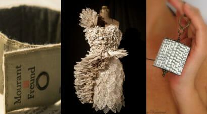 Libri da indossare: vestiti e accessori realizzati con le pagine dei libri