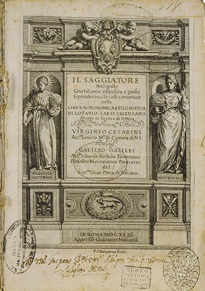 Il saggiatore Galileo Galilei