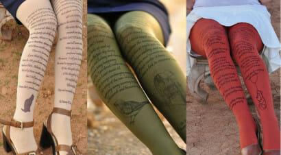 Ecco le calze letterarie: sui collant le citazioni dai grandi classici