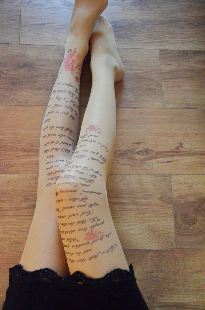 calze letterarie alice nel paese delle meraviglie