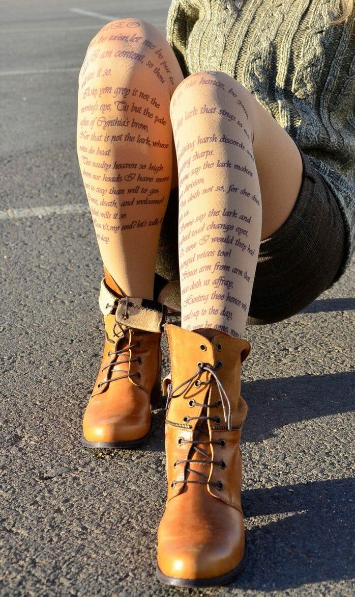 calze letterarie romeo e giulietta