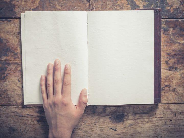 lettura leggere pagina bianca