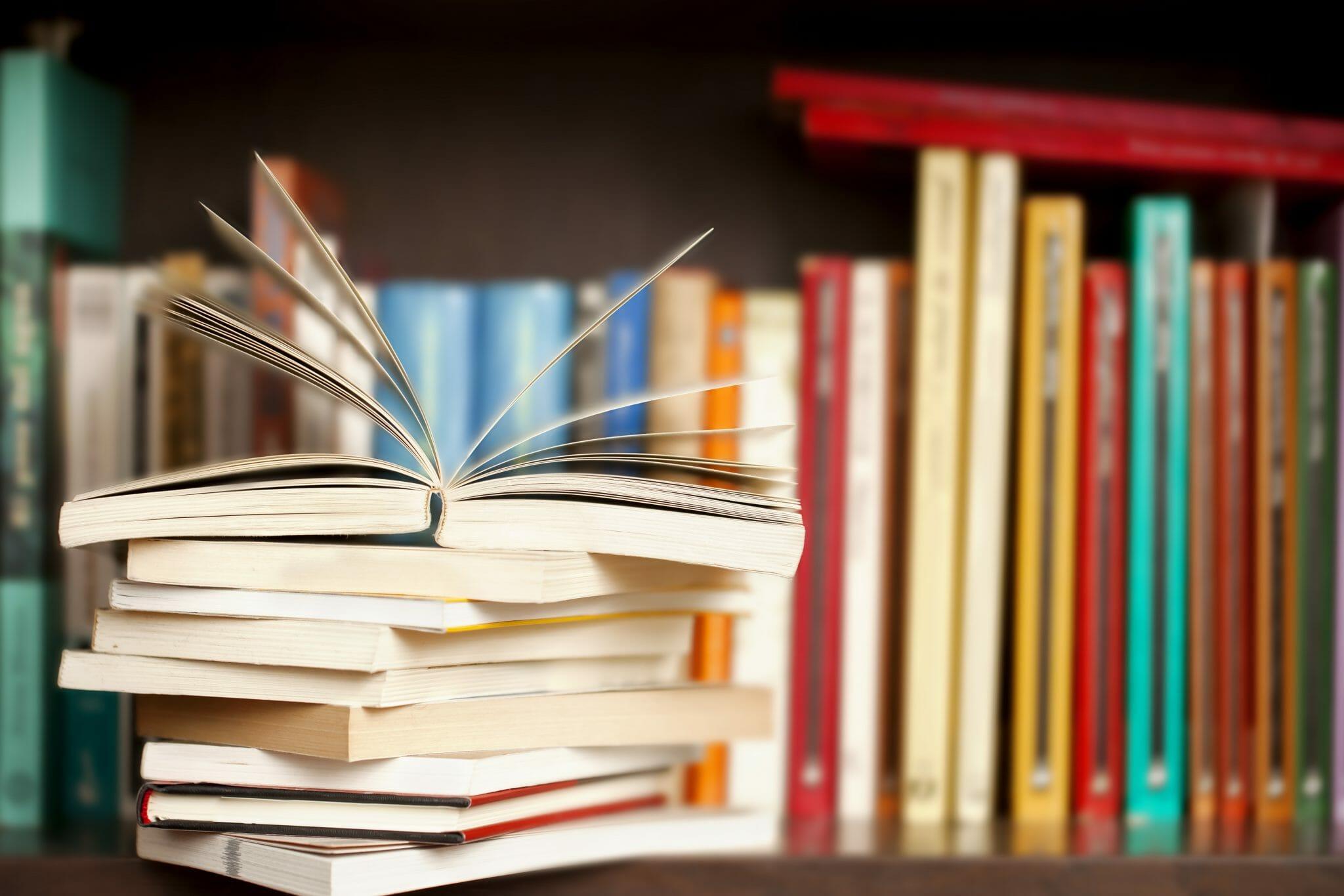 libri, lettura, libreria, volumi, pila di libri