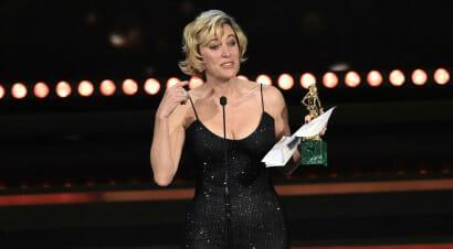 Tanti omaggi letterari nel commovente (e irresistibile) discorso di Valeria Bruni Tedeschi