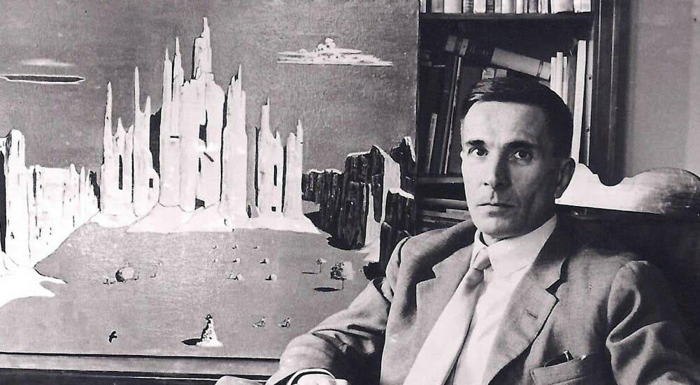 Lo scrittore Dino Buzzati