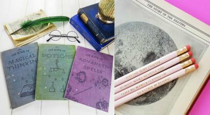 Idee regalo: matite, quaderni e taccuini per chi ama i libri