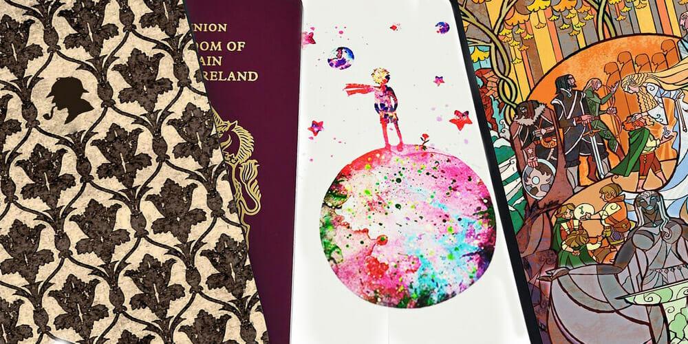 Accessori letterari da viaggio: le custodie per il passaporto ispirate dai libri