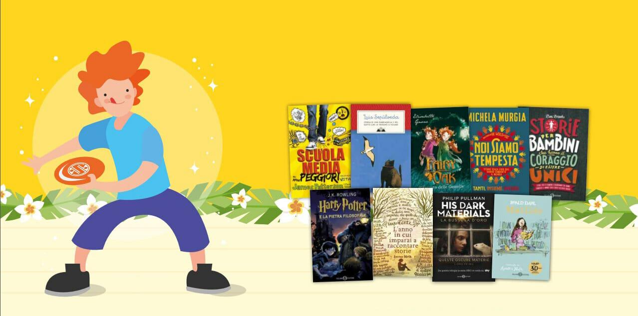 Un frisbee in regalo con l'acquisto di due libri per ragazzi Salani
