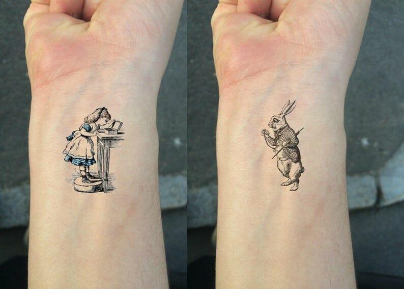 tatuaggi libri alice nel paese delle meraviglie