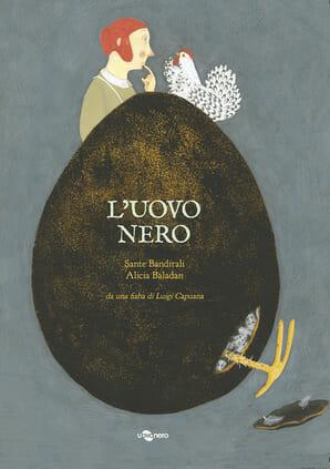 copertina del libro per bambini L'uovo nero di Sante Brandirali