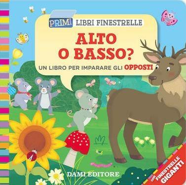 copertina del libro per bambini con finestrelle Alto o basso