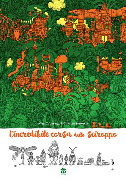 libri per bambini, copertina L'incredibile corsa dello sciroppo