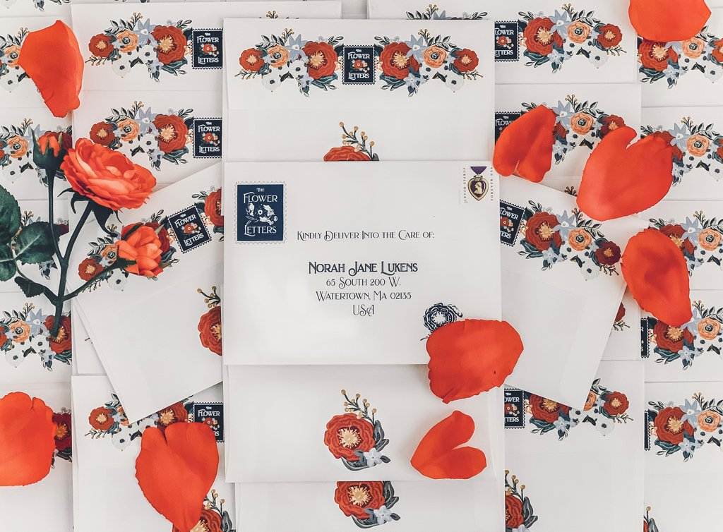 the flower letters, box letterarie