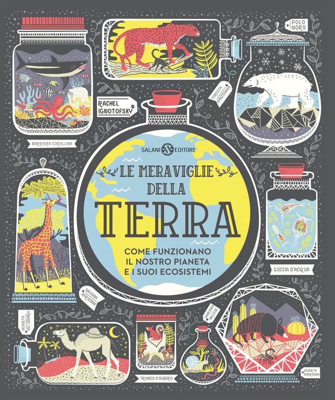 """copertina del libro illustrato per bambini """"le meraviglie della terra"""""""