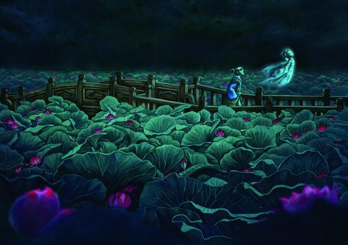 Storie di fantasmi dal Giappone illustrazione Lacombe
