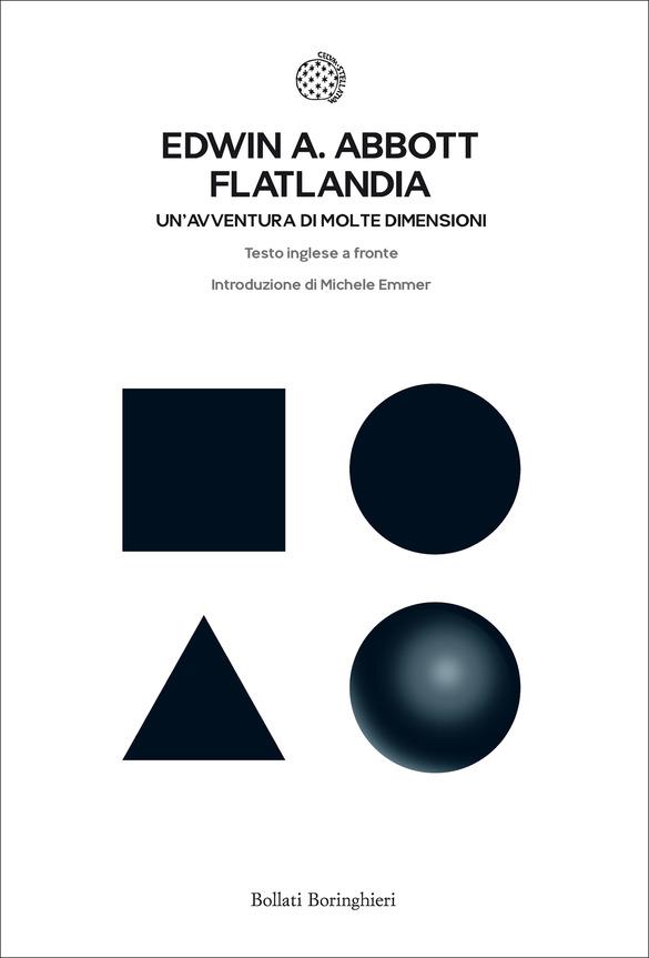 copertina del libro Flatlandia di Edwin Abbott con testo inglese a fronte