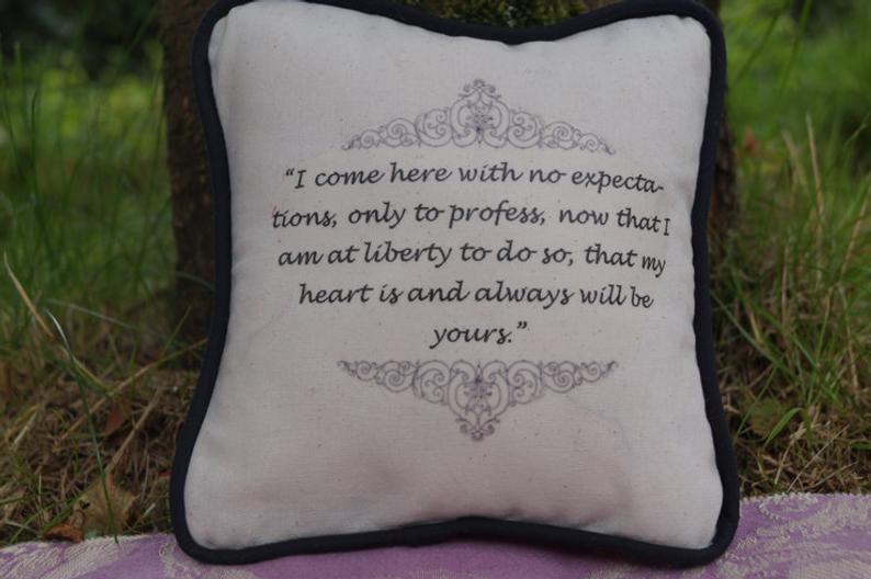 gadget utili, cuscino Jane Austen
