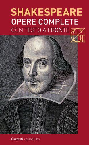 copertina delle Opere complete di Shakespeare con testo inglese a fronte