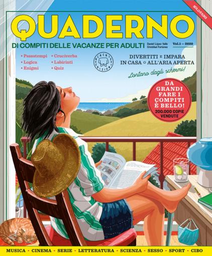 Copertina del libro Quaderno dei compiti delle vacanze per adulti