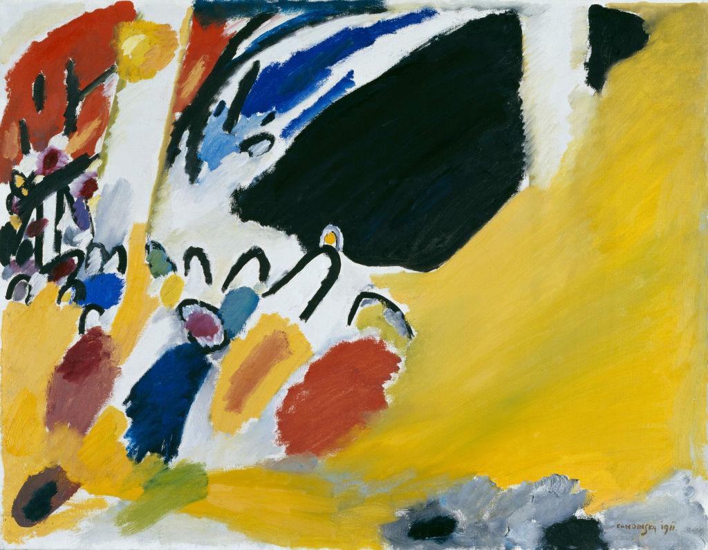 La tela Impression III di Vasilij Kandinskij