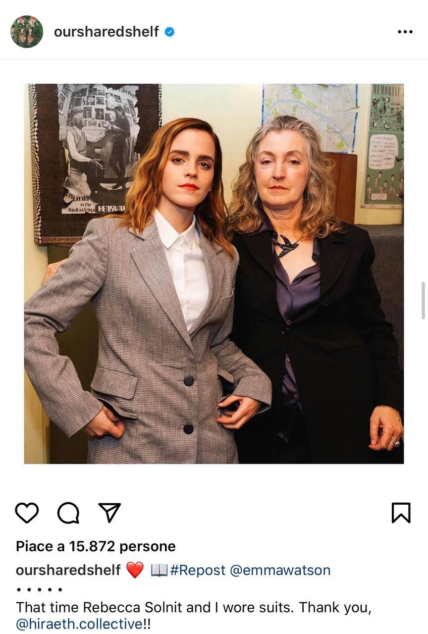 Emma Watson e Rebecca Solnit