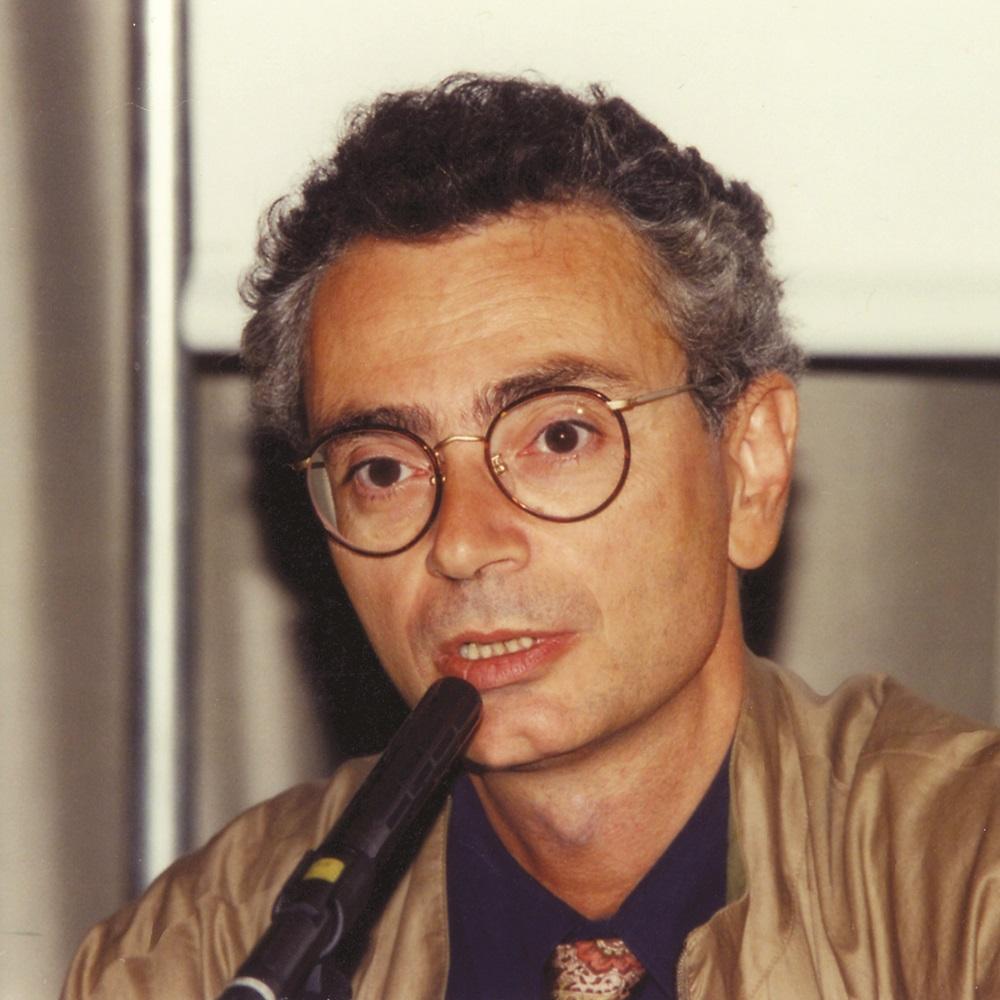 Primo piano dello scrittore Daniele Del Giudice