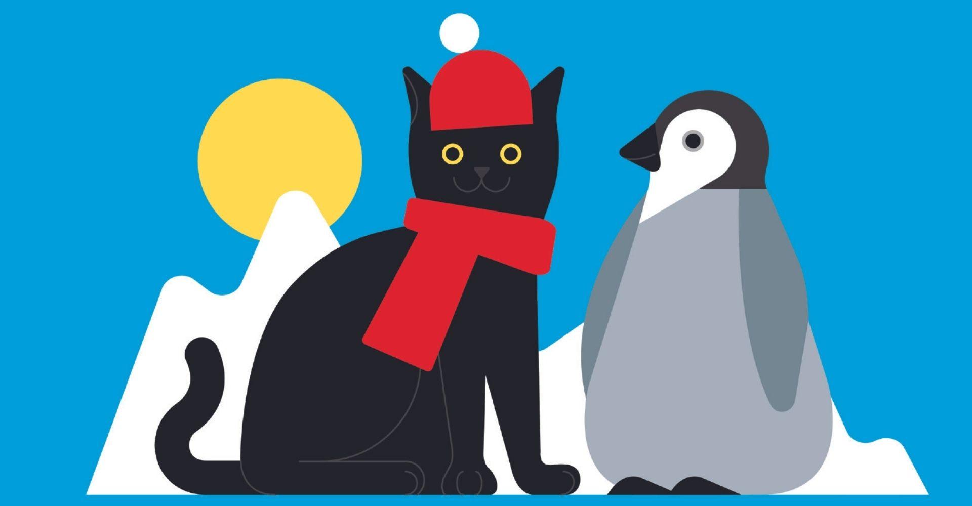 Storia di Milo, il gatto che andò al Polo Sud per aiutare un cucciolo di pinguino