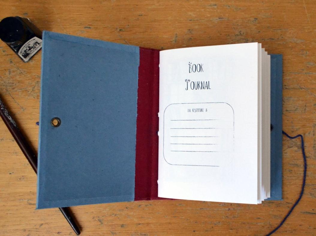 quaderno delle letture rilegato