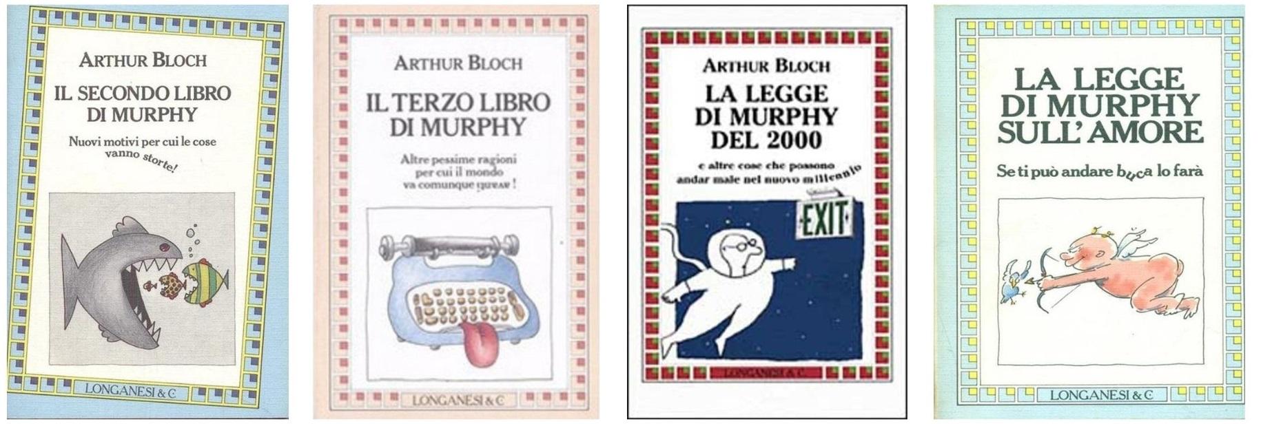 Le copertine dei libri sulla legge di Murphy successivi al primo