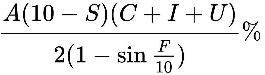 La formula che applica i principi della legge di Murphy