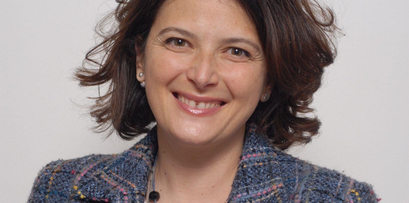 Primo piano dell'autrice Cristina Frascà
