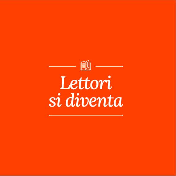 Logo arancione dell'iniziativa Lettori si diventa