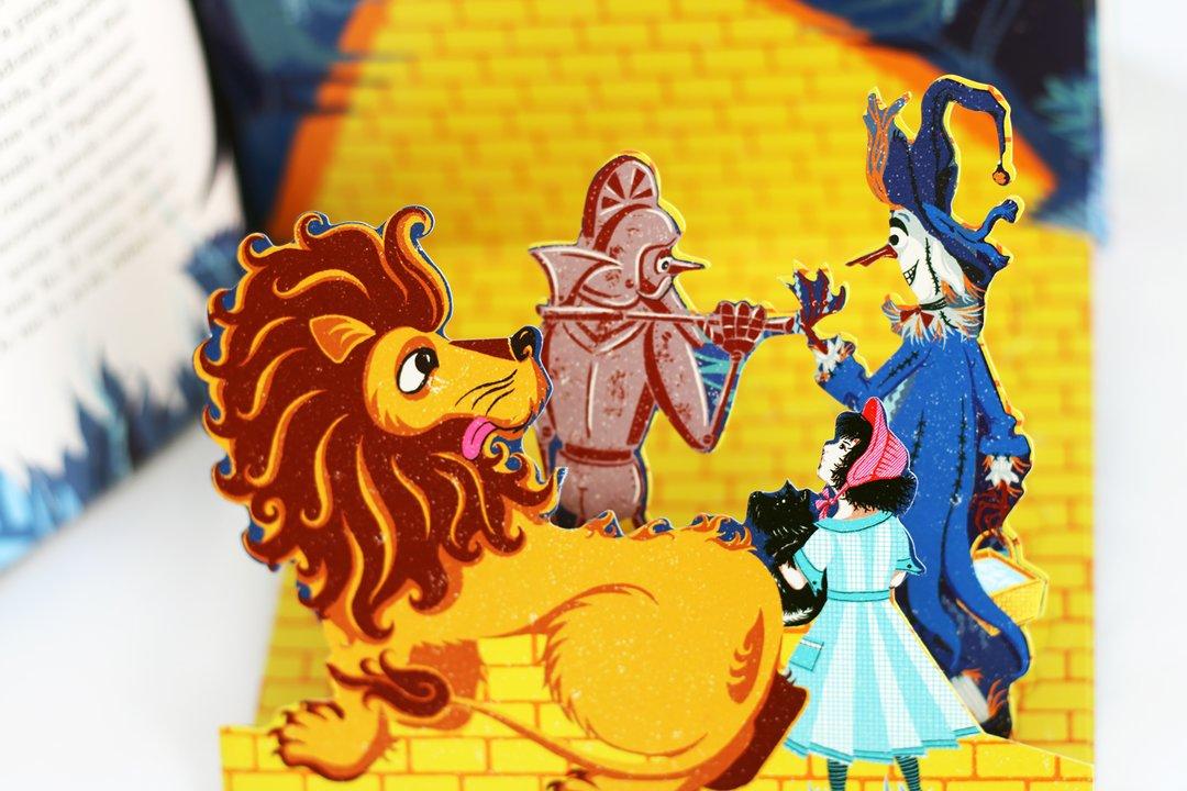 Dettaglio di un'illustrazione contenuta nel libro Il meraviglioso mago di Oz edito da L'ippocampo edizioni