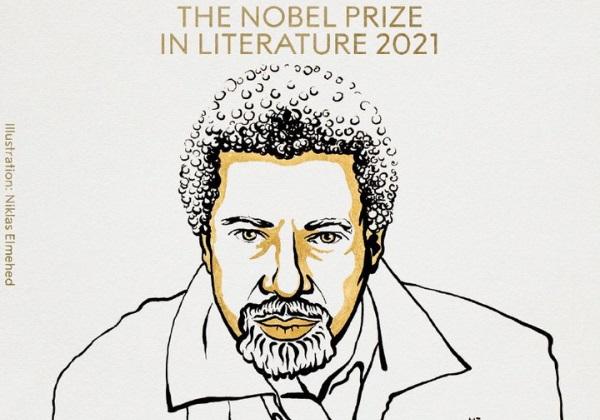 Illustrazione raffigurante l'autore Abdulrazak Gurnah, vincitore del Premio Nobel per la Letteratura 2021